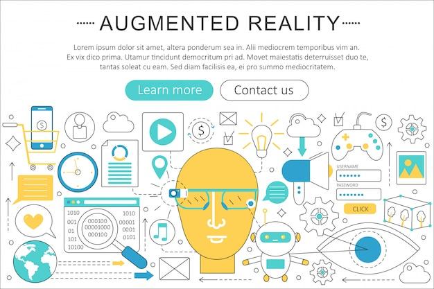 Conceito de tecnologia de realidade aumentada