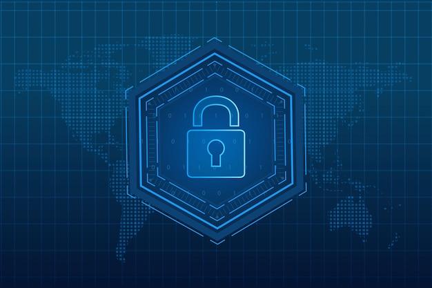 Conceito de tecnologia de segurança cibernética