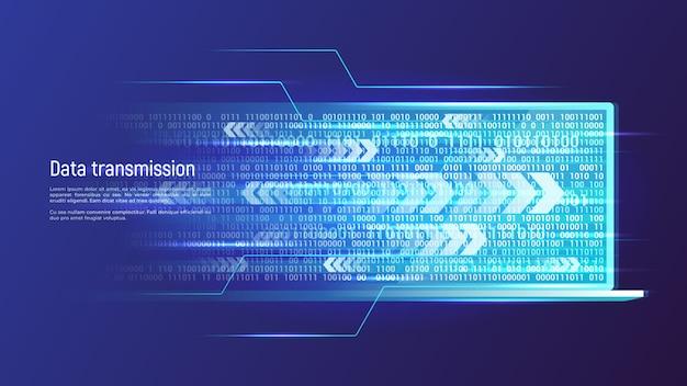 Conceito de tecnologia de transmissão de dados. ilustração vetorial