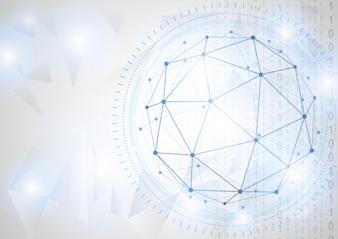 Conceito de tecnologia do futuro do negócio global