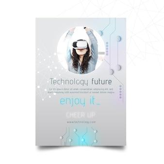Conceito de tecnologia e futuro flyer