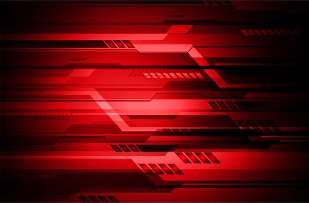 Conceito de tecnologia futura de circuito cibernético vermelho