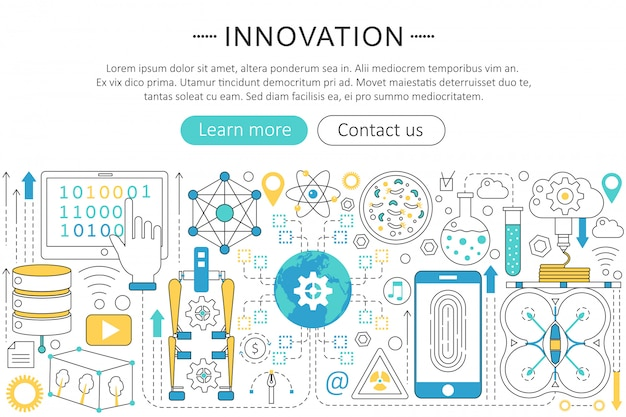 Conceito de tecnologia futura de inovação