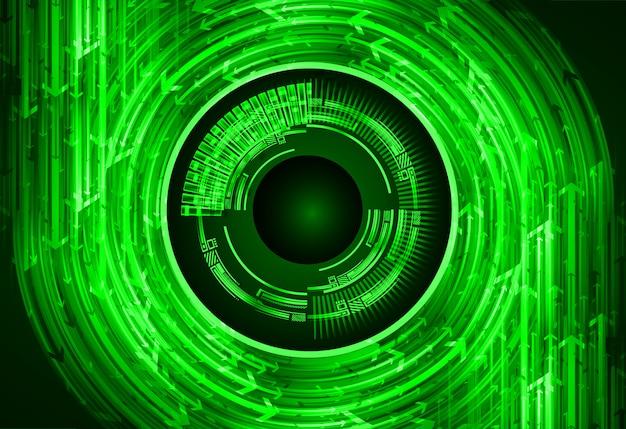 Conceito de tecnologia futura do olho cibernético circuito
