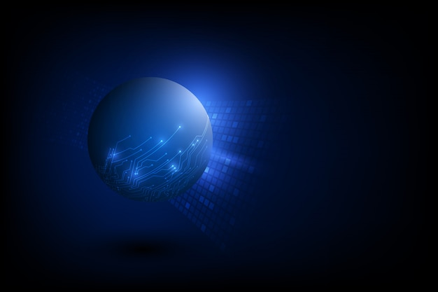 Conceito de tecnologia global digital de vetor