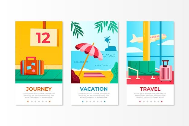 Conceito de tela de aplicativo onboarding de viagem