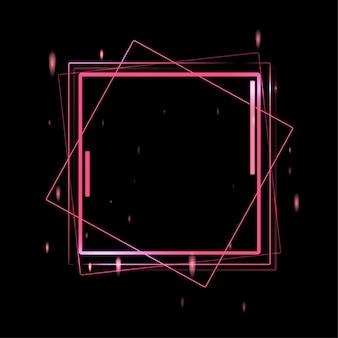 Conceito de tela de néon. ilustração em vetor anúncio futurista de luz laser