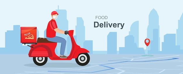 Conceito de telefone de entrega online resposta rápida envio de pacote de entrega no celular