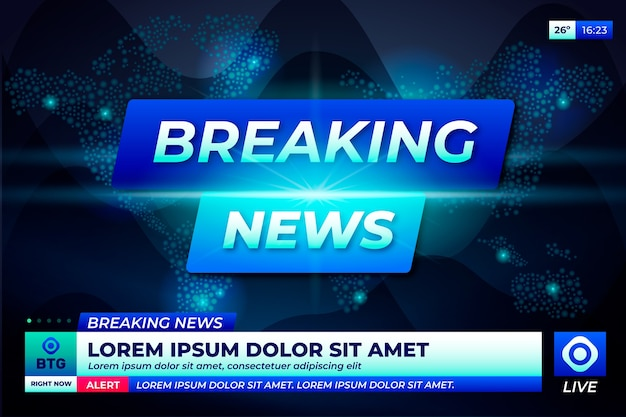 Conceito de televisão de notícias de última hora