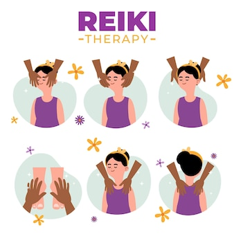 Conceito de terapia de reiki