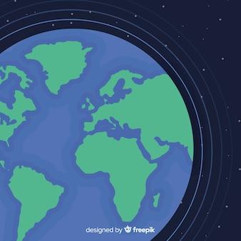 Conceito de terra do planeta