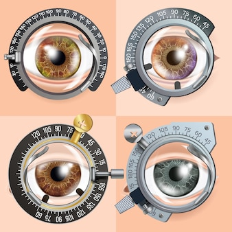 Conceito de teste de olho