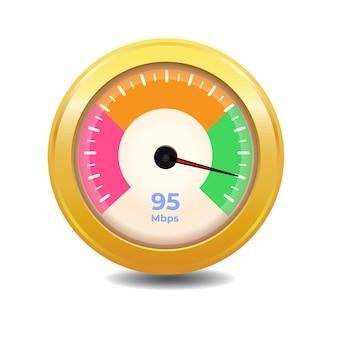 Conceito de teste de velocidade de download da internet