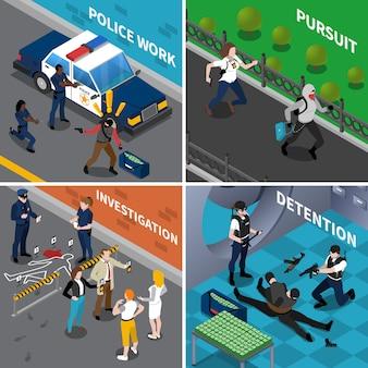 Conceito de trabalho de polícia