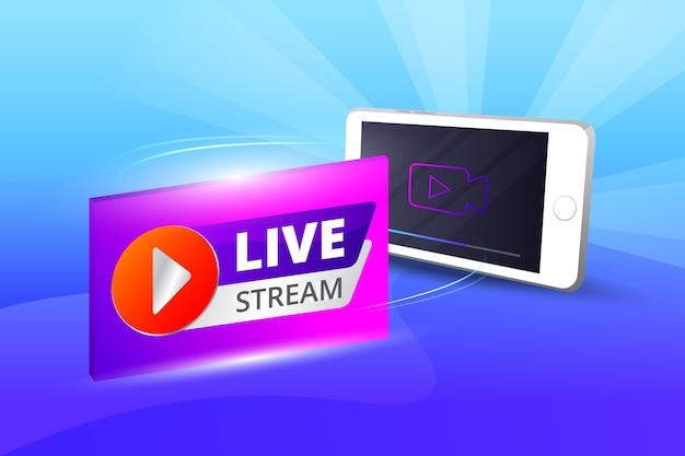 Conceito de transmissão ao vivo