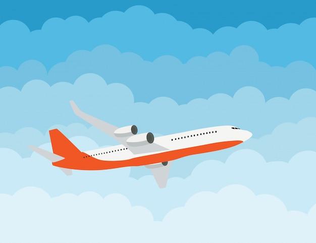 Conceito de transporte de entrega expressa de avião voando