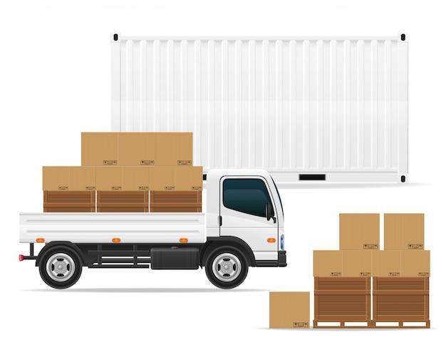 Conceito de transporte de mercadorias.