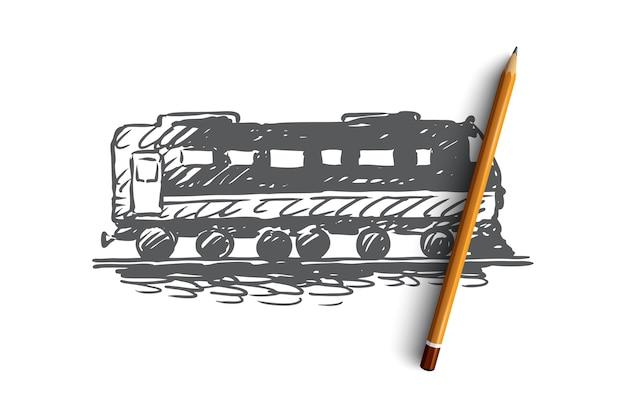 Conceito de transporte ferroviário de viagens ferroviárias de trem