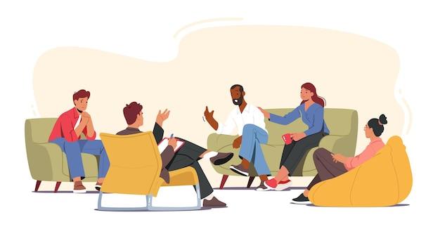 Conceito de tratamento de vício em terapia de grupo