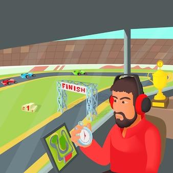 Conceito de treinador de corrida