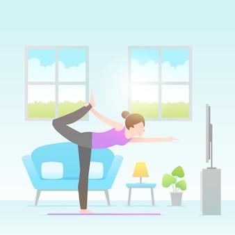 Conceito de treinamento dentro de casa