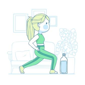 Conceito de treinamento em casa ilustrado