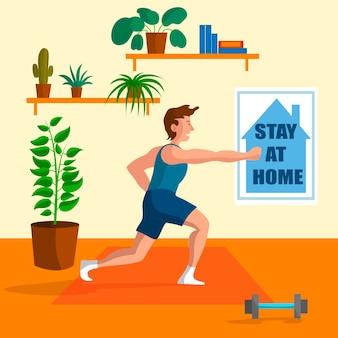 Conceito de treinamento em casa