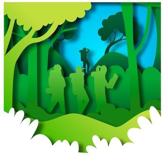 Conceito de turismo ecológico em estilo de jornal