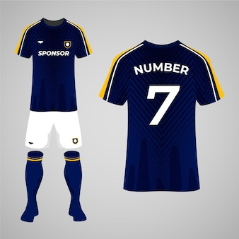 Conceito de uniforme de futebol