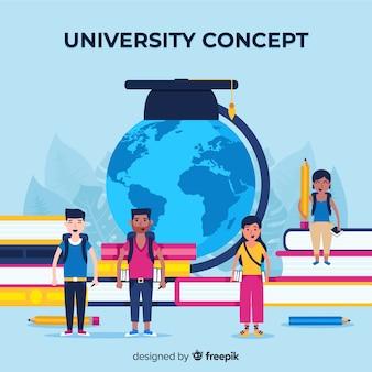 Conceito de universidade plana com elementos da escola