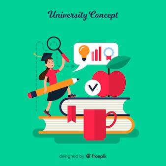 Conceito de universidade plana