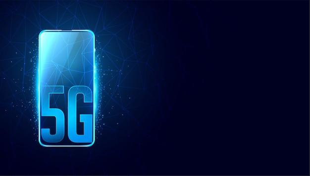 Conceito de velocidade rápida de tecnologia móvel 5g