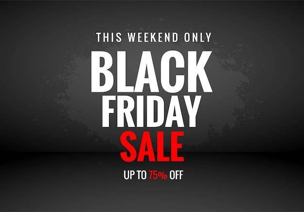 Conceito de venda black friday
