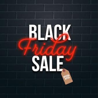 Conceito de venda da black friday com etiqueta de preço de oferta especial
