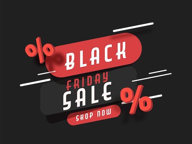 Conceito de venda da black friday