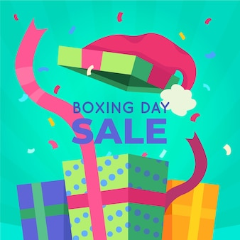 Conceito de venda de dia de boxe de design plano