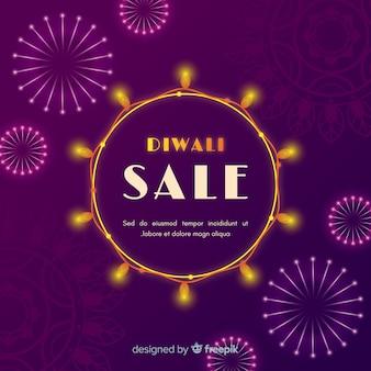 Conceito de venda de diwali em design plano