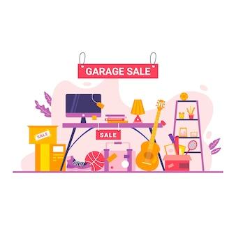 Conceito de venda de garagem