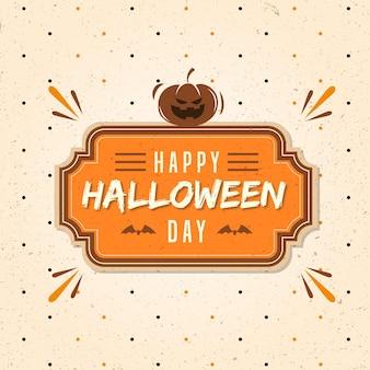 Conceito de venda de halloween vintage