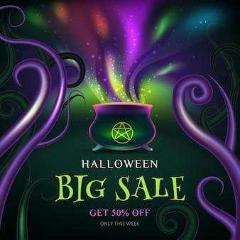 Conceito de venda de halloween