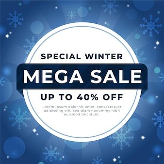 Conceito de venda de inverno turva