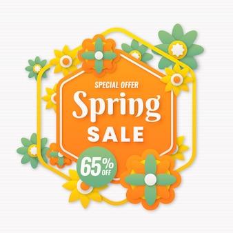 Conceito de venda de primavera de design plano