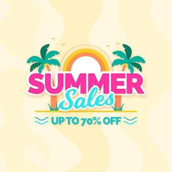 Conceito de venda de verão design plano
