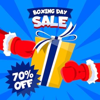 Conceito de venda dia de boxe em design plano