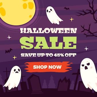 Conceito de venda do festival de halloween