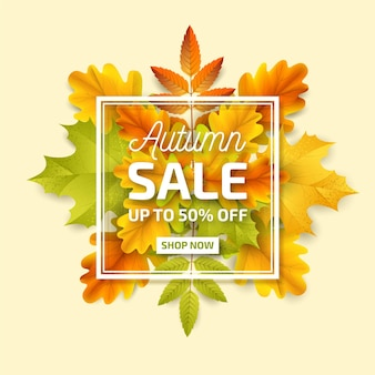 Conceito de venda outono realista