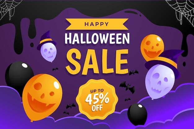 Conceito de venda plana de halloween