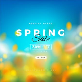 Conceito de venda promocional de primavera turva