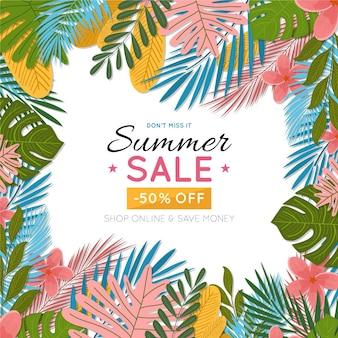 Conceito de venda promocional de verão