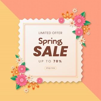 Conceito de venda realista de primavera